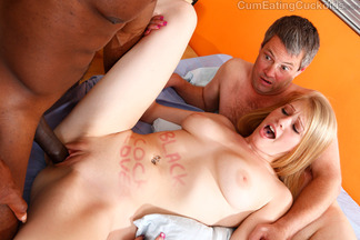 Trío bisexual con la rubia Allie James, foto 12
