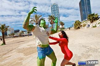 Noemi jolie y hulk spanish hard fucking