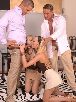 Bianca Golden y Gitta Blond,Lauro Giotto y Thomas Stone