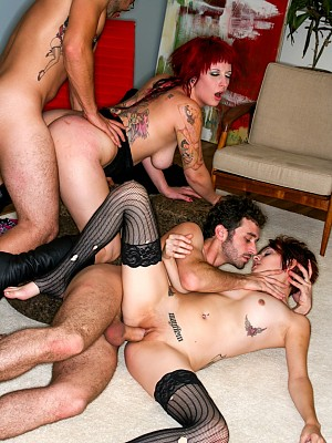 Mayhem y Jessie Lee,Jason Dallas y James Deen