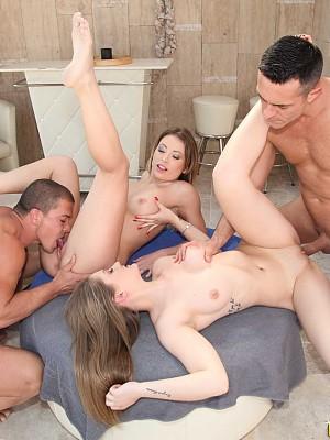 Vera Wonder y Tiffany Tatum,Renato y Matt Bird