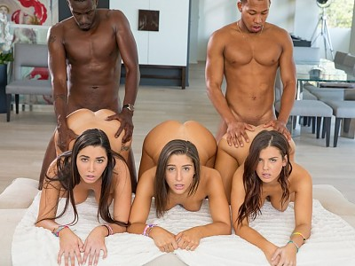 Keisha Grey,Abella Danger y Karlee Grey,Ricky Johnson y Jason Brown