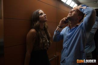 Amirah Adara follada en el ascensor, foto 2