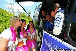 Brooke Banner, Daisy Cruz y Kortney Kane en una orgía con Charles Dera, Keiran Lee, Rocco Reed, foto 6